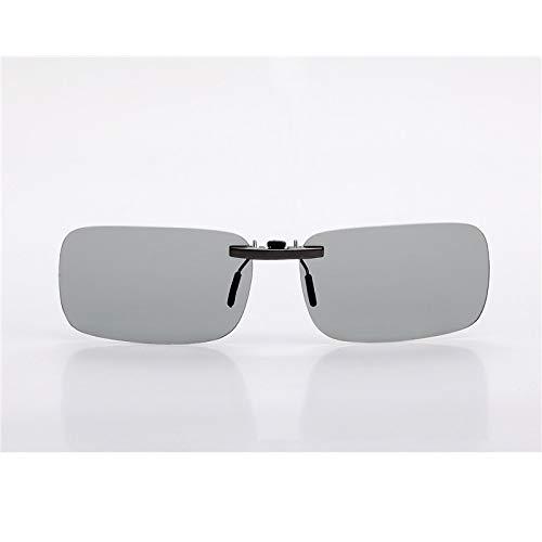 LKVNHP Neue Hochwertige Aluminium-Clip Auf Sonnenbrille Männer Frauen Polarisierte Fahren Blendschutz Tag NachtPhotochromePassform Über Brillengestell ObjektivPhotochrom
