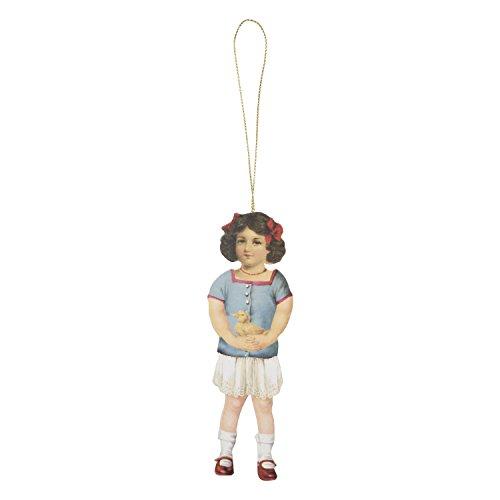 62059 Clayre & Eef - Ettichette per regali - Bambina / Anatra - Set di 6 ca. 4 x 13 cm