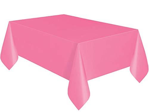 GUOYIHUA 100ft Einweg Geburtstag Tischdecke Party Bankett Tisch Rolle Kunststoff Wasserdicht Abwischen Saubere Tischdecke (Pink) (Kunststoff-tischdecke Rolle Pink)