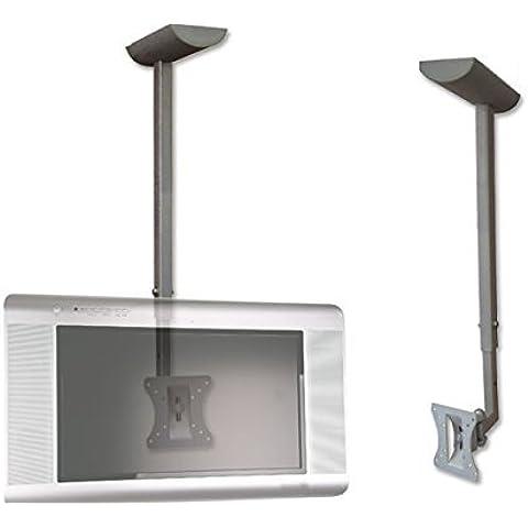Tv monitor soffitto monte staffa supporto girevole basculante tilt tft
