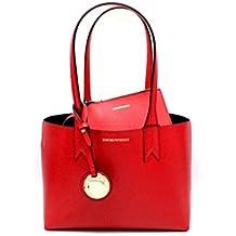 Emporio Armani FRIDA sac porté épaule Femme Rouge 66e911bfc97