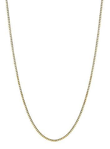 14K massiv Gold Box Kette Baby Kinder Halskette