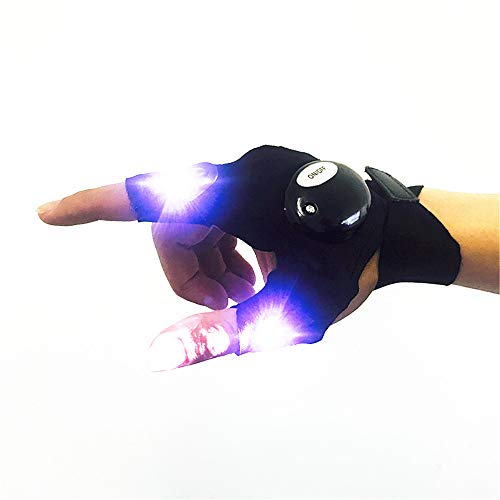 Glow Supplies Party Favors LED Taschenlampe Beleuchtung Angeln Outdoor Sports Beleuchtung Handschuhe, Tanz Handschuhe Club, Halloween, Karneval, Geburtstag, EDM, Disco und Party ()