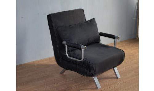 Italfrom divano letto sofa bed nero divani 67x69x83h divanetti divano letto 1 piazza
