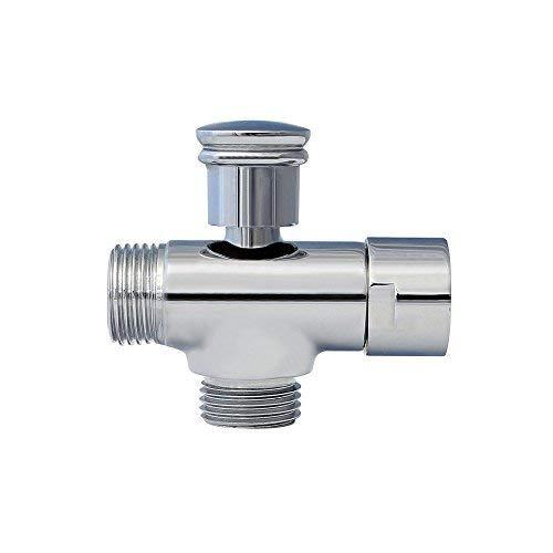 Umschaltventil | 2-Wege-Ventil · Adapter · Umstellventil/Umschalter für Badewanne & Dusche · Chrom | Burgtal 17740