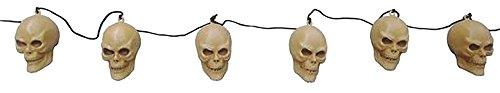 -Girlande Totenkopf Halloween, braun ()