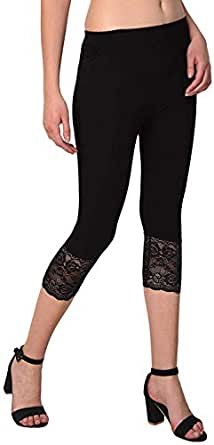 """Snowball Lace Capri for Women 