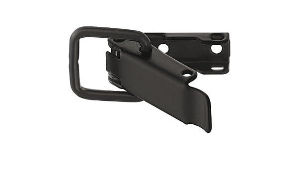 A x B verzinkt schwarz : 56,5 x 23 mm Stahl Ma/ße PiHaMi/® Kisten-Spannverschluss