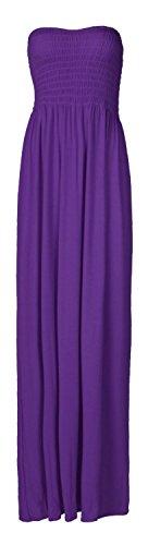 Fast Fashion Damen Maxi Kleid Plus Größe Plain Umführungsvorrichtung Bandeau Fashion Kleid