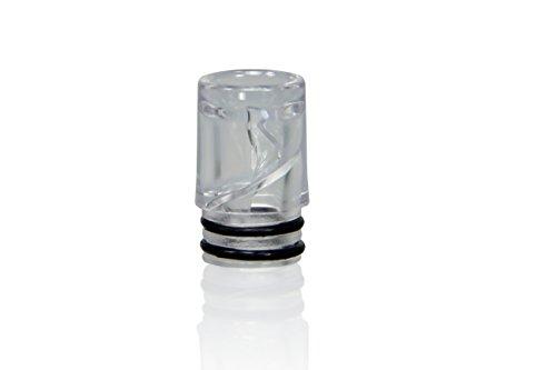 Hygiene Mundstücke Spiral Mundstücke für die eGo AIO und weitere E-Zigaretten - Farbe: transparent - 5er Pack