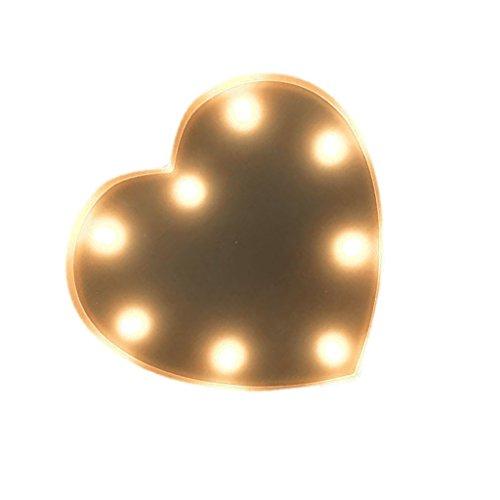 12inch Silber Alphabet Form Zirkus Stil Licht Leuchten Zeichen Karneval Hochzeit Weihnachten Dekoration - Herz