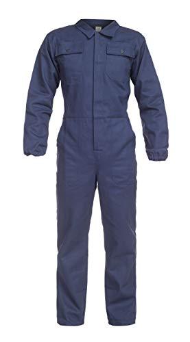 DINOZAVR Anax Herren Baumwolle Arbeitsoverall Schutzanzug mit vielen Taschen - Hydronblau XL