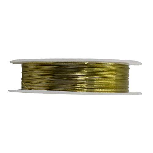 Askdasu Kupferdraht-Perlen für Ohrringe, Armband, Halskette, Schmuck, DIY Bastelmaterial, 0,4 mm, Farbe Kupferdraht, Kupfer, goldfarben, 15 m