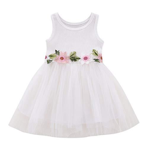 Baby Mädchen Blumen Stickerei Kleid, Allence Kleinkind Tüll Patchwork Tütü Kleid Urlaub Prinzessin Outfit Kleidung