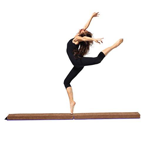 COSTWAY Barra de Equilibrio Plegable Gimnasia Entrenamiento Balance Beam para Fitness Ejercicio