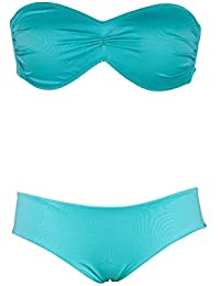 90ea2ccf5592 Bikini a Fascia Coppa Preformata con Coulotte Liscia | Tiffany o Orchidea |  Made in Italy