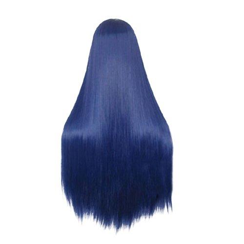 Dayiss® Bleu Droite Longue cheveux longs Perruques Fashion plein Wig/Perruque Cosplay Parti perruque Costume Party, comme Extensions de cheveux Perruque (Voir la page d'information produit d'Amazon)