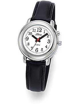 Atlanta Sprechende Damenuhr mit Zeitansage in Silber - 8916-19