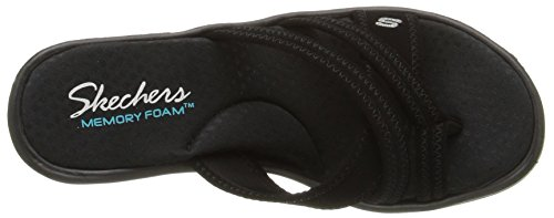 Skechers Rumblers Young At Heart, Sandales Plateau femme Noir