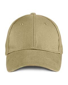 Solid Brushed Twill Cap KHAKI OS (Cotton Twill Beanie)