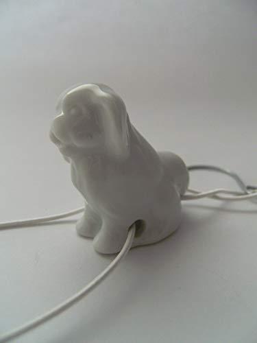 Lindner Porzellan Tropfenfänger Hund, Yorkshire Terrier, weiß, für Kaffee- oder Teekannen, Tier Hunde