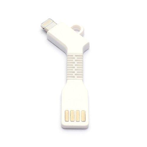 aricona N°477 Cable adaptador USB micro-B a conector USB PowerBank como llavero, alternativa flexible y compacta al cargador, Größe:Micro USB;Farbe:blanco