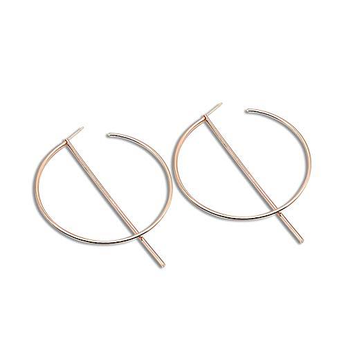 Lovinda Mädchen Gold versilbert Ohrringe großen Ring zirkon Ohrringe Frauen kreative ohrring Linie Mode Ohrstecker günstige schmuck für Dame Geburtstagsgeschenk (golden)