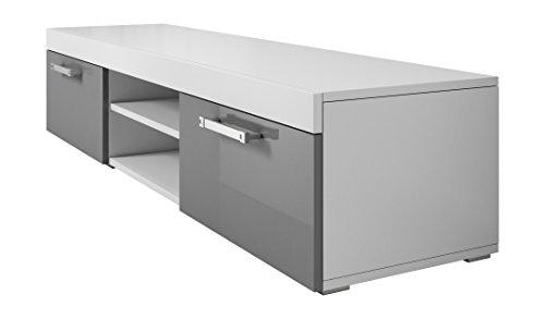tv unit cabinet stand mambo white matt grey high gloss. Black Bedroom Furniture Sets. Home Design Ideas