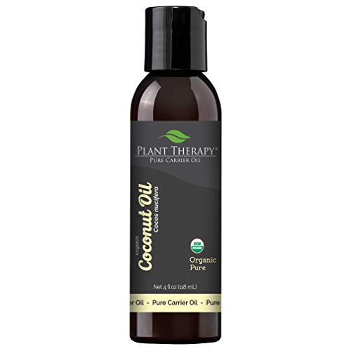 Plant Therapy Essential Oil | Organic Fractionated Coconut Oil For Skin, Hair, Body | 100% Pure | 4 oz