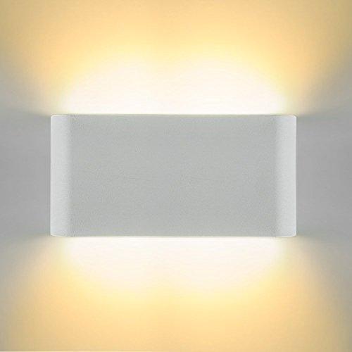 Glighone Applique da Parete Impermeabile LED 12W Lampada a Muro ...