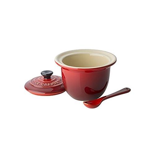 Le Creuset 91037400060000 Mini Serviertopf 0,2 L, Keramik, 10 x 10 x 9 cm, kirsch