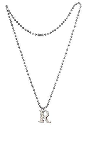 Tech Fashion Necklace Chain Alphabet R Locket Fashion Accessories -TF-436