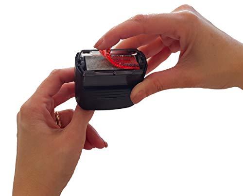 Gomma ricambio timbro personalizzabile Compatibile timbri Colop da 1 a 5 righe e universale per tutti i timbri autoinchiostranti (max 5 righe 18 x 47 mm)