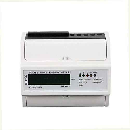 Digitaler Drehstromzähler,Stromzähler mit S0 Interface,für DIN Hutschiene