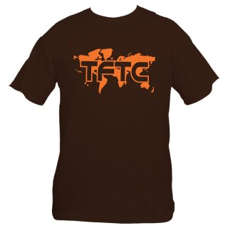 Geocaching T-Shirt TFTC Braun