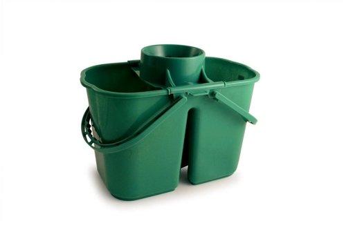 Doppio secchio mop, capacità: 15l, verde