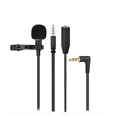 Microphone Jack 3.5mm Audio Microphone à Condensateur Omnidirectionnel Cravate Revers Tie Clip On Mini Mic pour Skype,Ipad,MSN, Téléphone, Android, iPhone et Smartphones, etc...