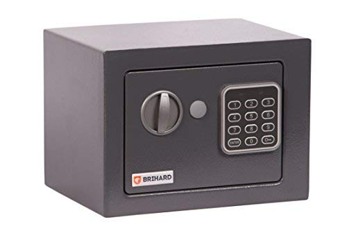 Brihard Junior caja fuerte con cerradura electrónica (17x23x17cm (HxWxD))
