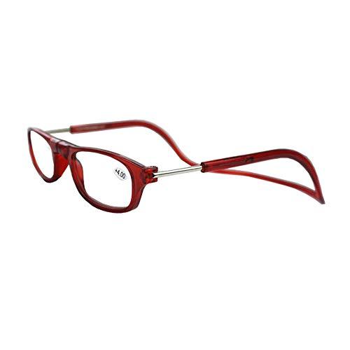 GEMSeven Gafas de lectura magnéticas unisex Gafas de lectura plegable Gafas ajustables para colgar el cuello