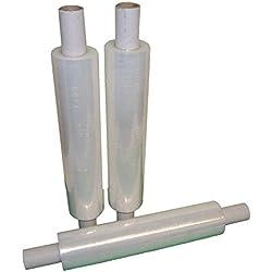 Extended Shrink film étirable pour palette Rouleaux Plastique Heat Shrink Wrap 400mm, 400MM x 200M CLEAR, Clear, White, Transparent, 3