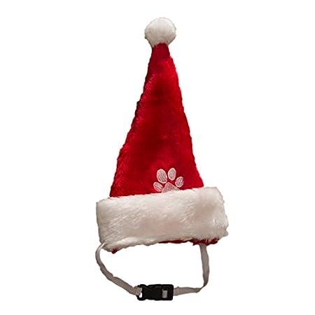 Ciffre Weihnachtsmütze Nikolausmütze für den Hund Katze Mütze Nikolausmütze Kleine Hunde
