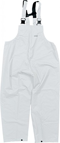 Ocean Rainwear Damen Herren Regenlatzhose Comfort Heavy Segelhose, Farbe:weiß, Größe:L