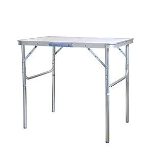 JOM Klapptisch Campingtisch Aluminium 75x55cm Gartentisch Beistelltisch Falttisch höhenverstellbar und faltbar