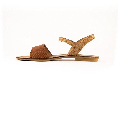 Sandales Vaquetilla Natural Cuero e16 - Porronet Marron