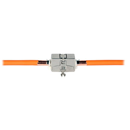 BIGtec werkzeugfreies Verbindungsmodul - Netzwerkkabel Verlängerung/Connection Box/Verbinder für Cat.5 Cat.6 Cat.6A Cat.7 Verlegekabel und Patchkabel - Wiederverwendbare Zugentlastung