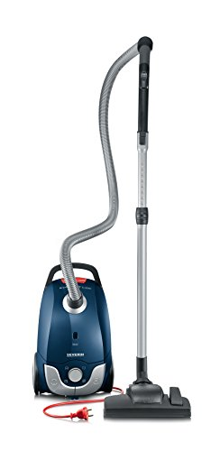 Severin BC 7058 Beutel-Staubsauger (Inklusive Polsterdüse, Parkettdüse und Turbobürste, S´SPECIAL carpet und carpets) blau/rot
