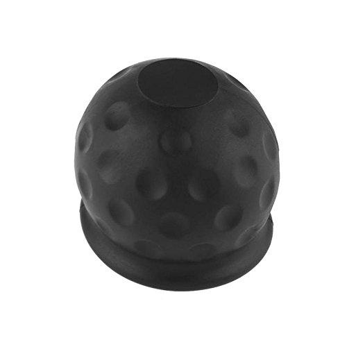 LJTous -  50mm großer, schwarzer Gummiball als Abdeckung für die Anhängerkupplung