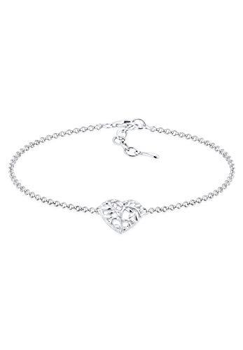 Elli Damen Schmuck Armband Fußkettchen Herz Liebe Freundschaft Liebesbeweis Silber 925 Länge 16 cm