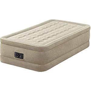 Intex Ultra Plush Raised Airbed with Fiber Technology and Built-in Pump (UK SPEC) #64456, Single/Twin