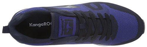 KangaROOS Omnicoil Woven, Baskets Basses Mixte Adulte Multicolore - Mehrfarbig (Dk navy/ultramarine 449)